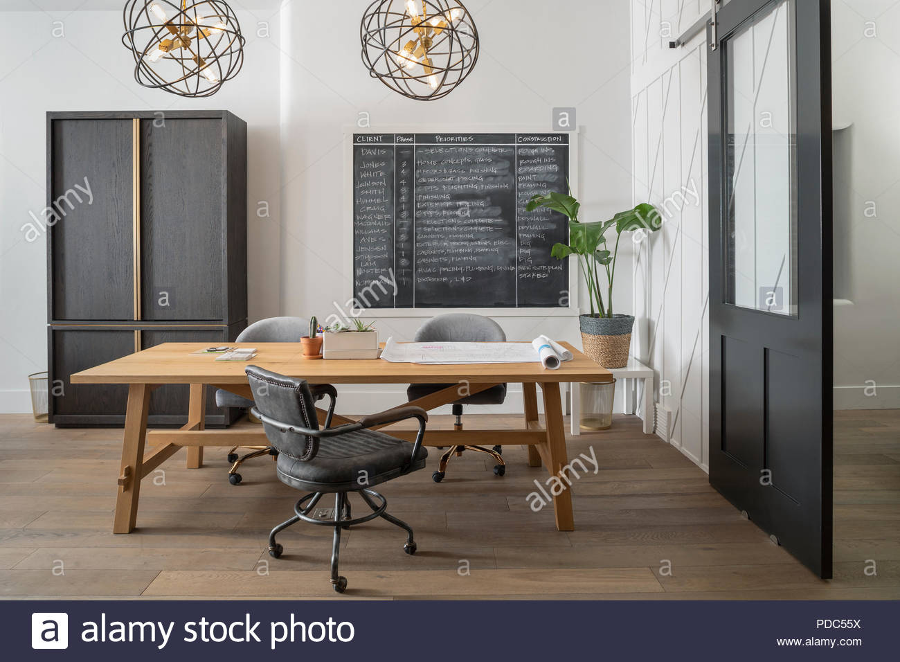 Creative architect office space - Stock Image