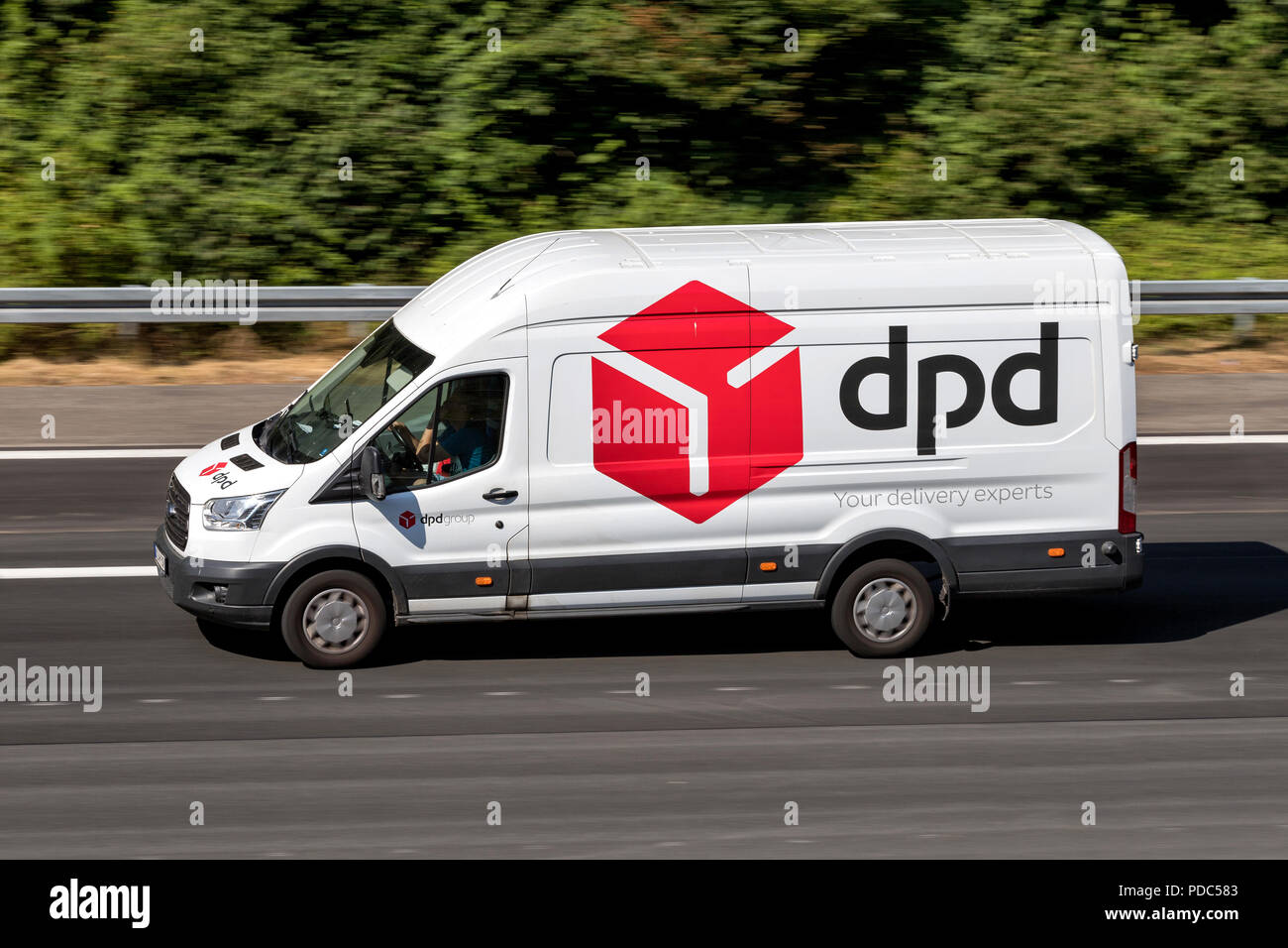 a8f710dc65fdf6 dpd delivery van on motorway. DPDgroup is the international parcel delivery  network of French state
