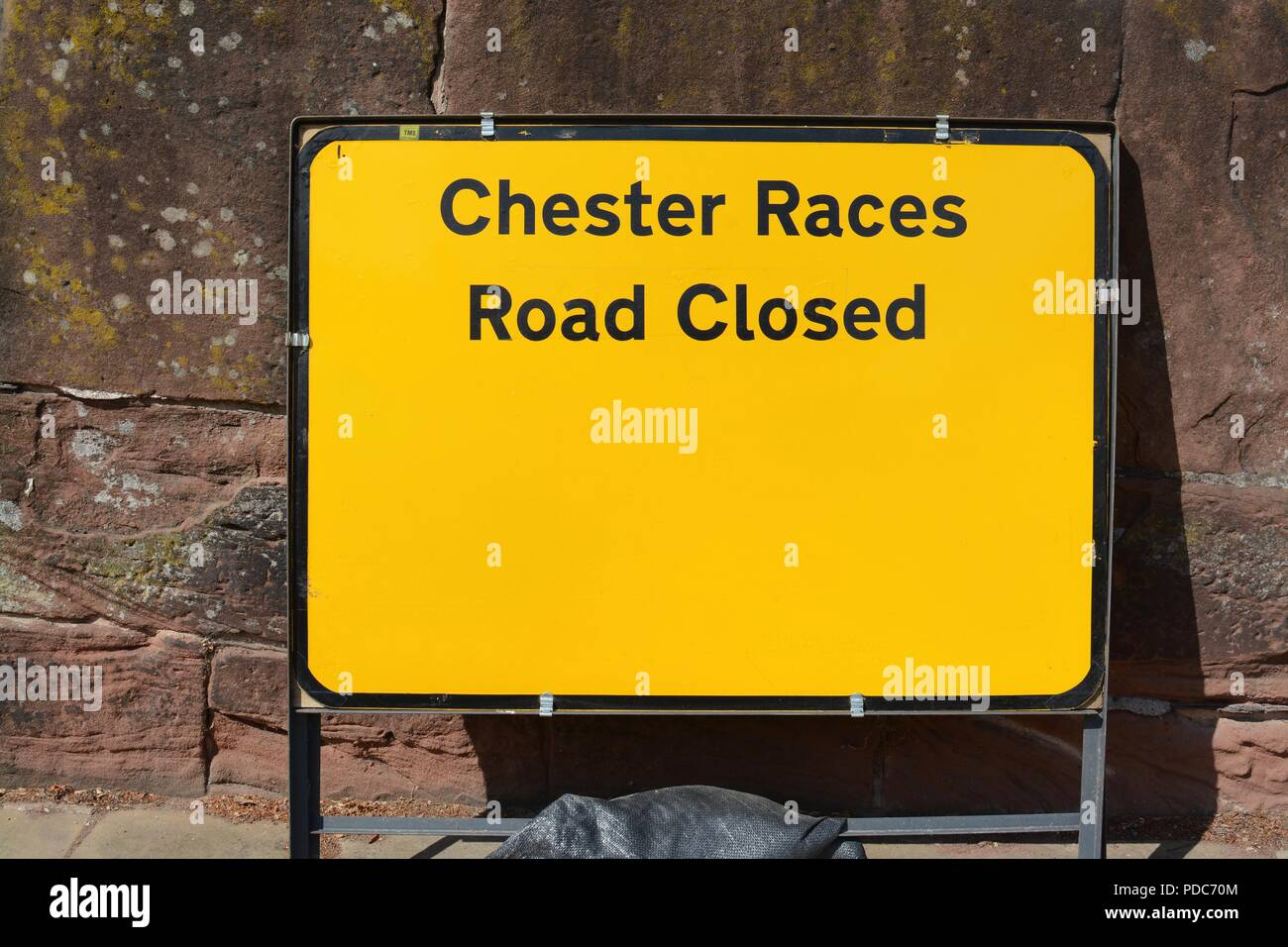 Chester race course road sign - Stock Image