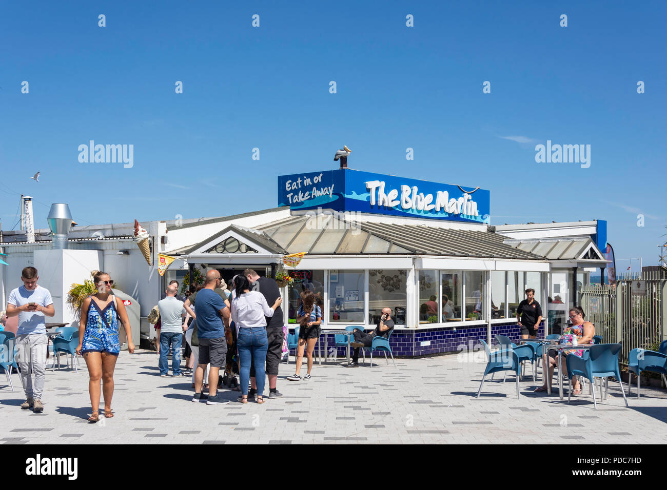 The Blue Marlin fish & chips restaurant, South Foreshore, South Shields, Tyne and Wear, England, United Kingdom - Stock Image