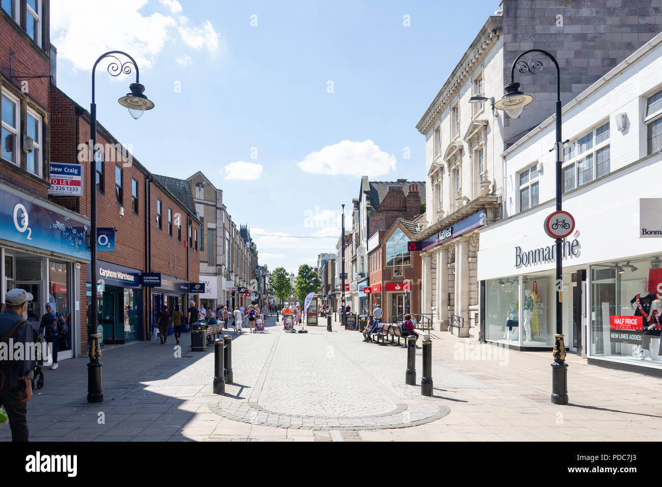 Pedestrianised King Street, South Shields, Tyne and Wear, England, United Kingdom - Stock Image