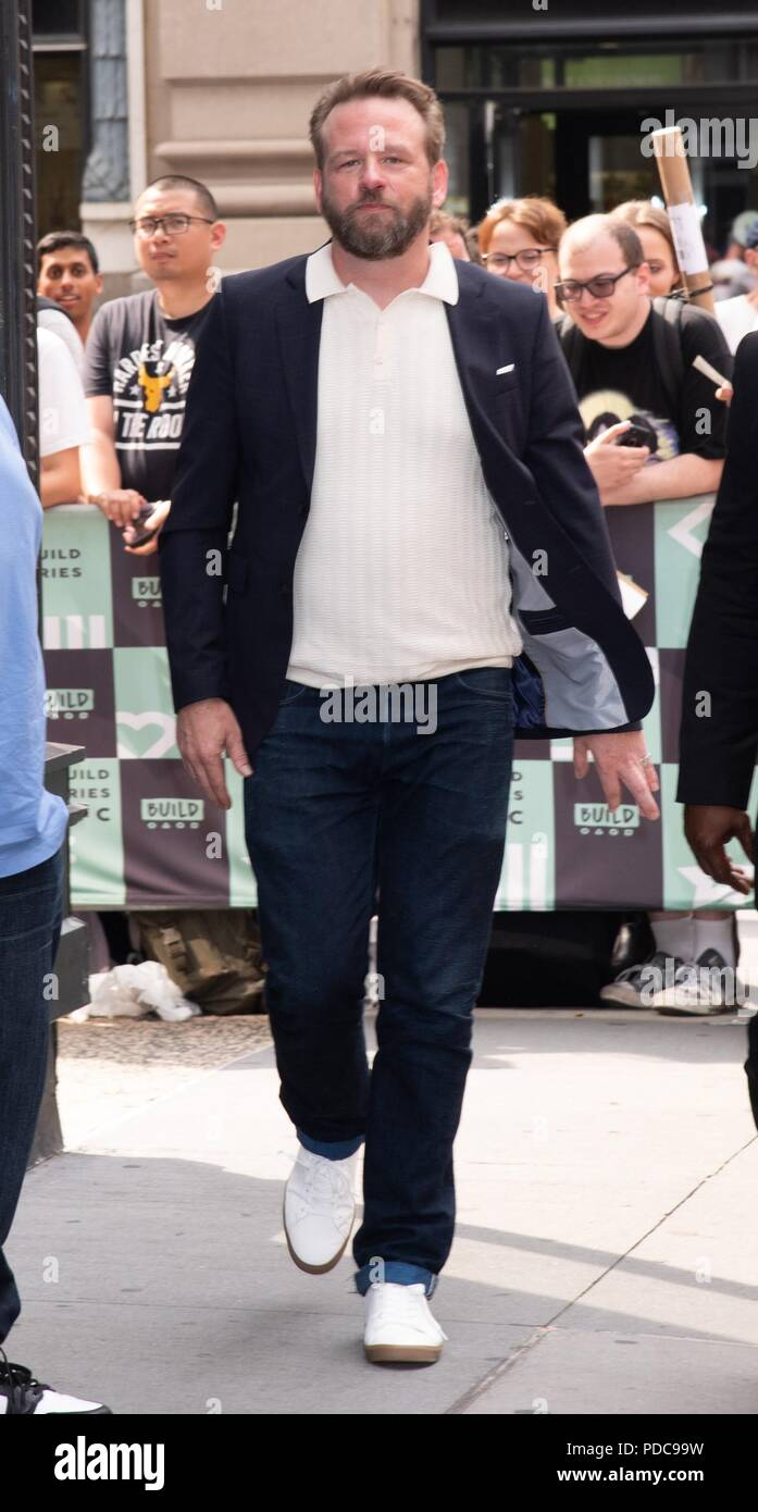 New York, NY, USA. 7th Aug, 2018. Dallas Roberts out and about for Celebrity Candids - TUE, Build Studio NY, New York, NY August 7, 2018. Credit: RCF/Everett Collection/Alamy Live News - Stock Image