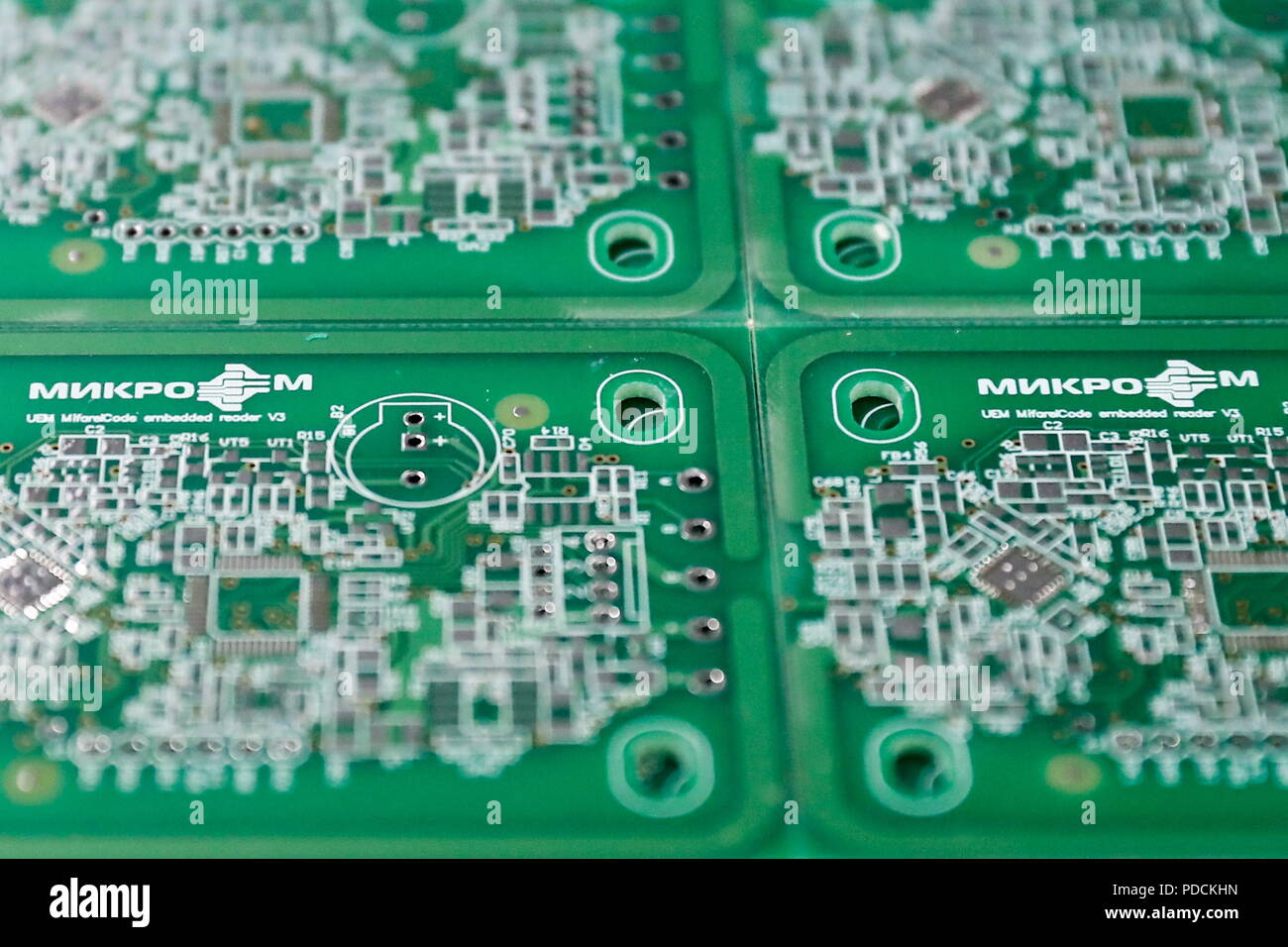 A Printed Circuit Board Stock Photos Stockfoto Pcb Used In Industrial Electronic Moscow Russia August 9 2018
