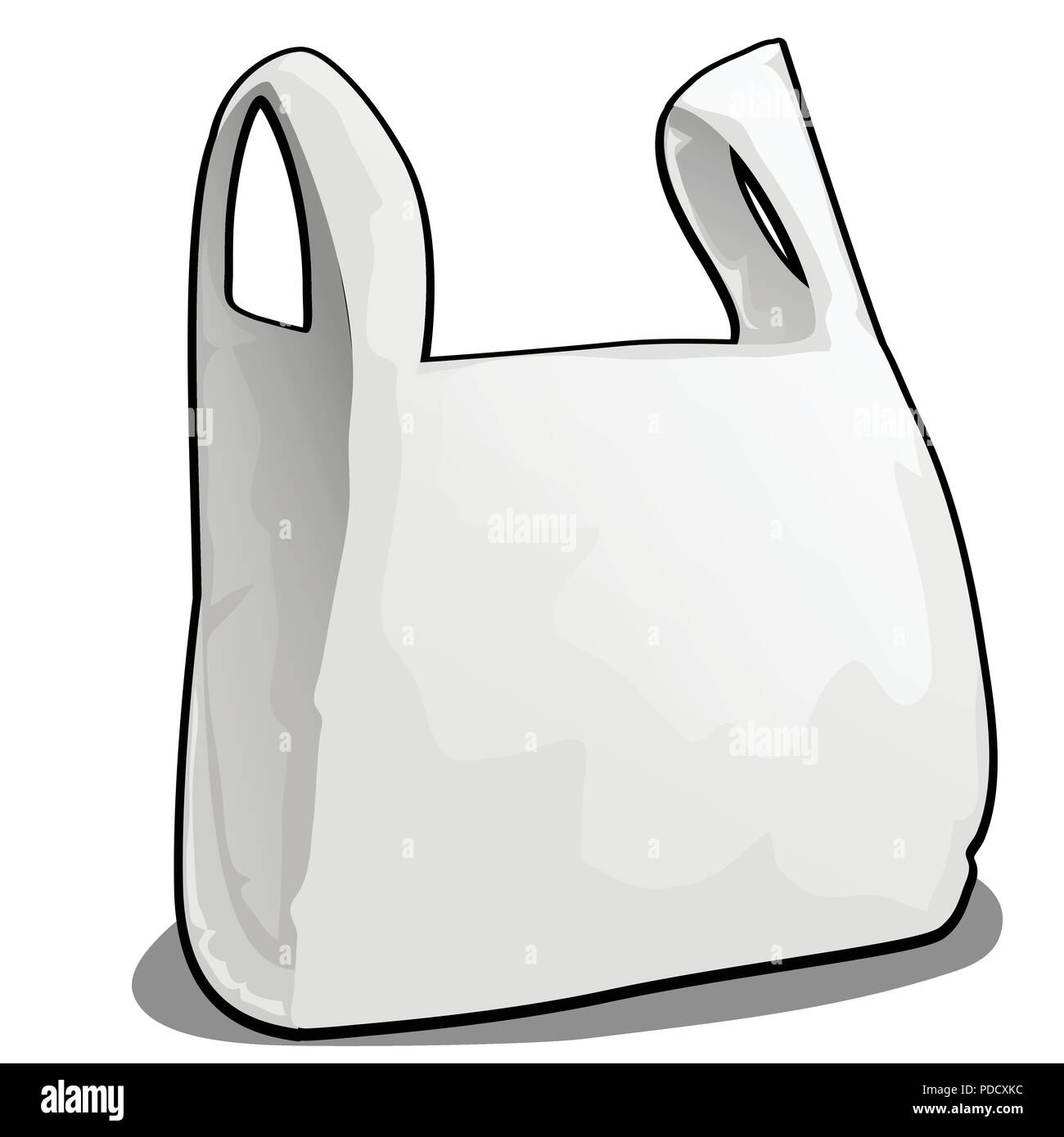 A Plastic Bag Of White Color Isolated On White Background Vector Cartoon Close Up Illustration Stock Vector Image Art Alamy