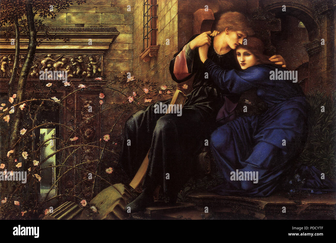 Love Among the Ruins, Burne-Jones, Sir Edward Coley, 1894. - Stock Image