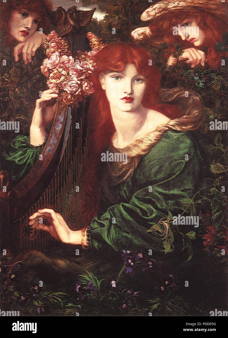 La Ghirlandata, Rossetti, Gabriel Charles Dant, 1873. - Stock Image