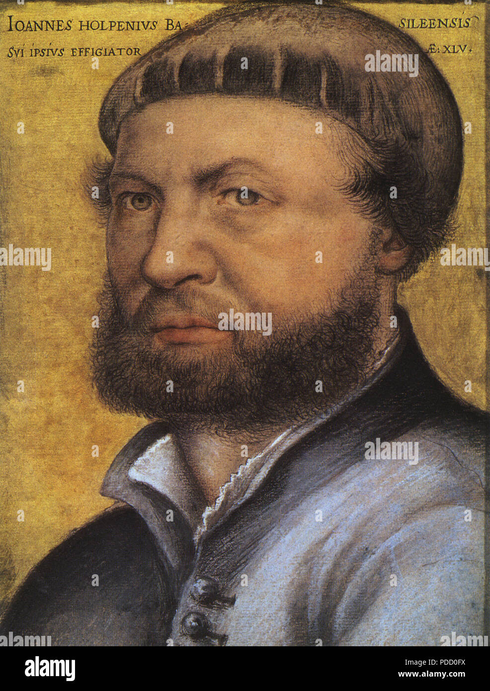 Self-Portrait, Holbein, Hans the Younger, . - Stock Image