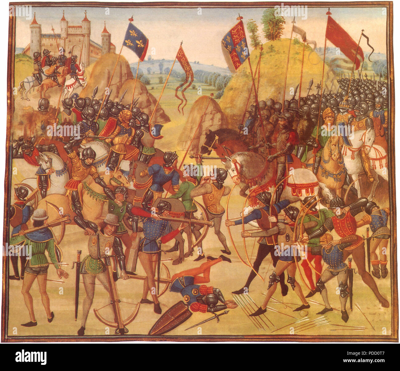 Battle of Crecy 1346, Froissart, Jean, .