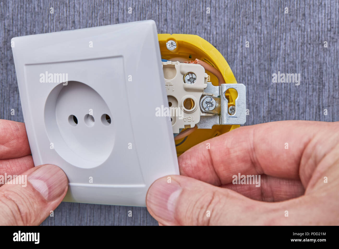 Installing Household Power Outlet In Home Electrical Network Close House Wiring On The As Up