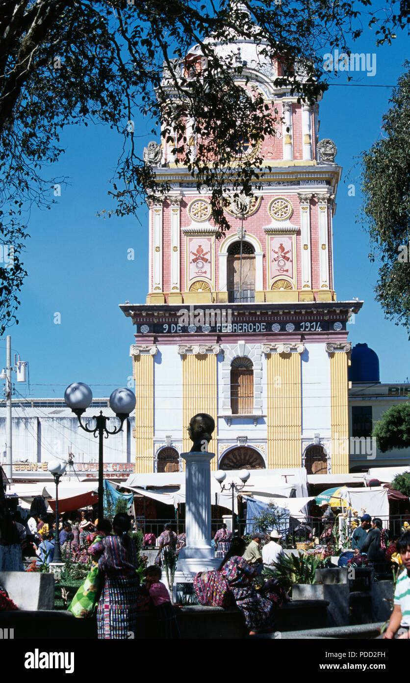 Clock tower in Solola, Guatemala         FOR EDITORIAL USE ONLY - Stock Image