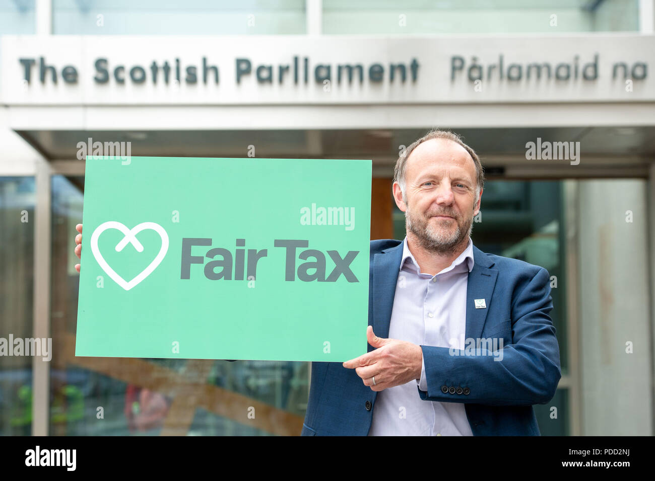 www.iangeorgesonphotography.co.uk Fair Tax Fortnight, Scottish Parliament  Paul Monaghan (CEO Fair Tax)    SCOTS WANT TO SEE UK GOVERNMENT INTERVENE M - Stock Image