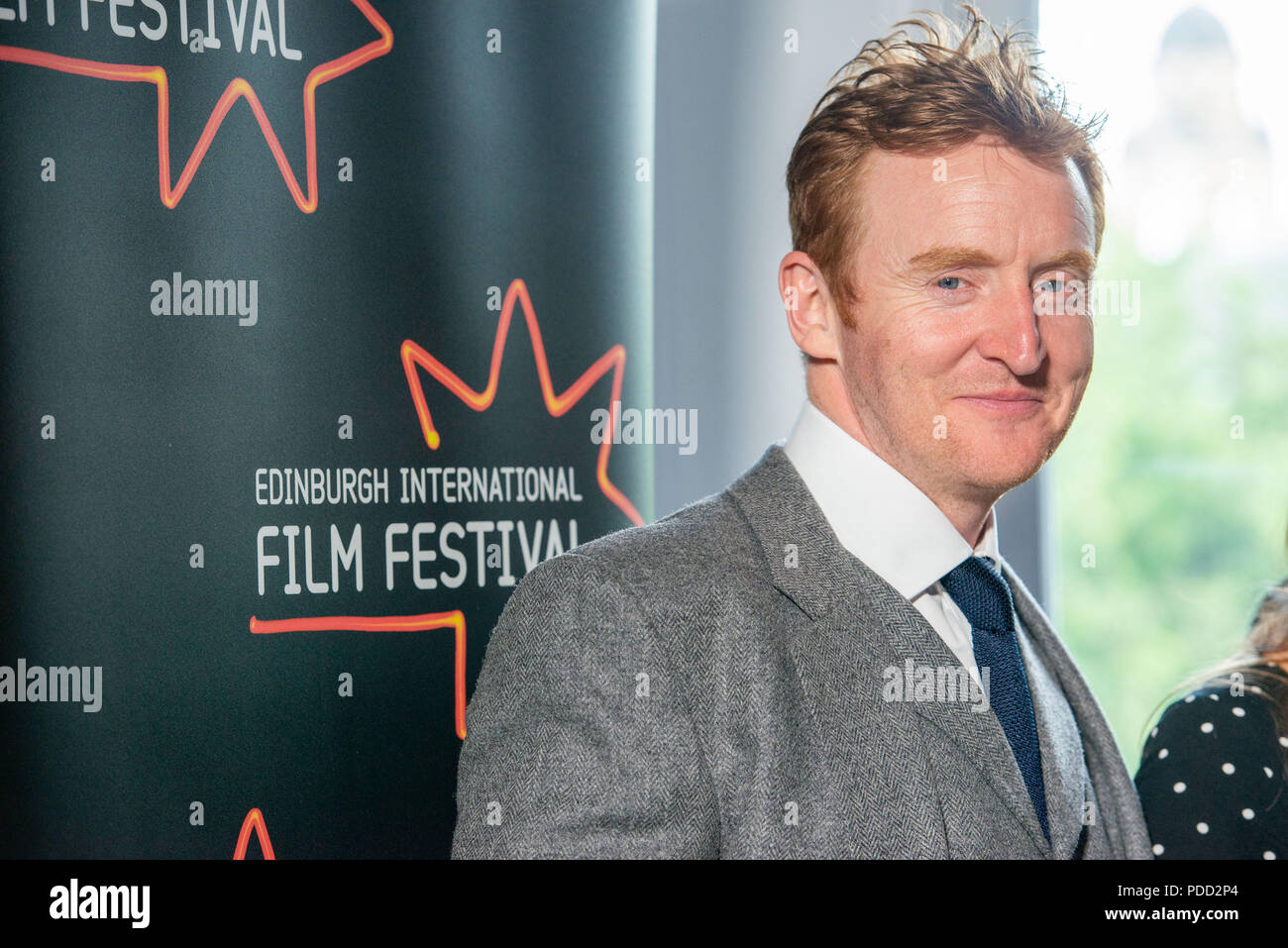 www.iangeorgesonphotography.co.uk EIFF World Premier Calibre at the Caledonian Waldorf Astoria  Pictured: Tony Curran - Stock Image