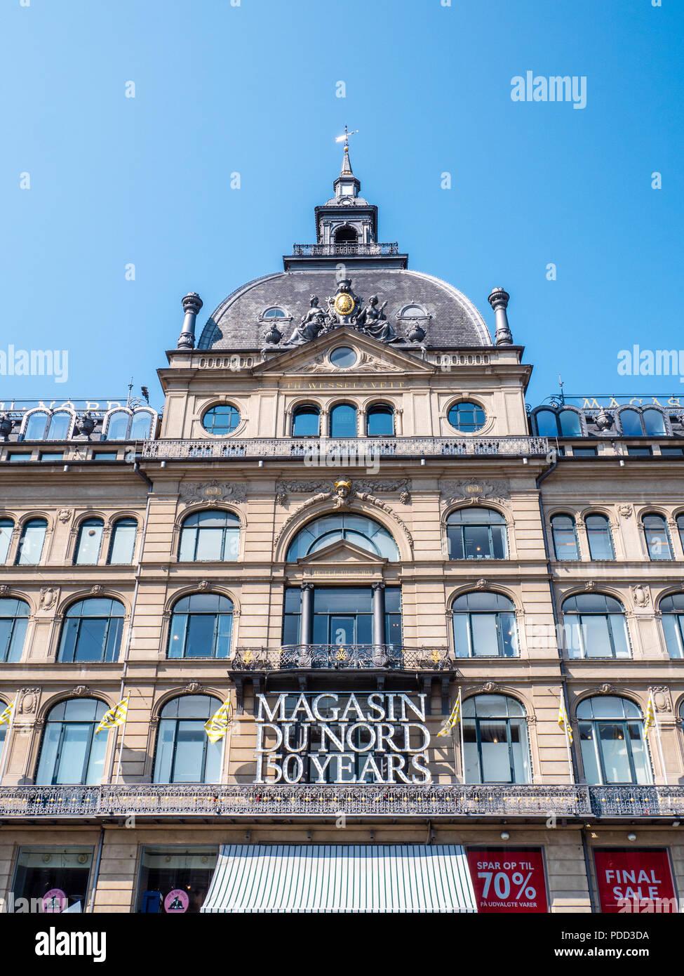 Magasin du Nord, Department Store, owned by Debenhams, Copenhagen, Zealand, Denmark, Europe. - Stock Image
