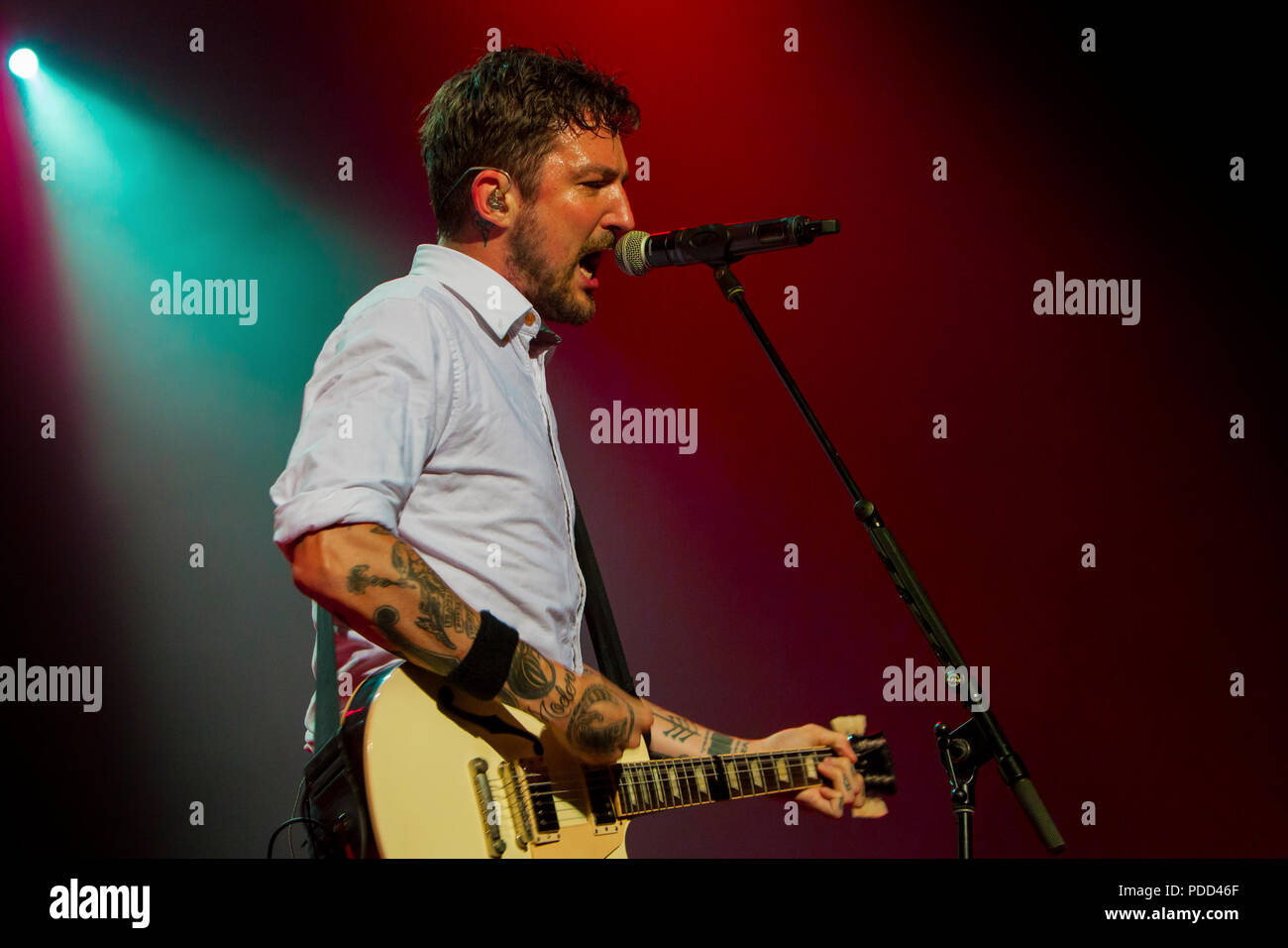 Frank Turner & The Sleeping Souls performing at The House of Blues in Dallas, Texas on June 12, 2018 during their Be More Kind Tour. - Stock Image