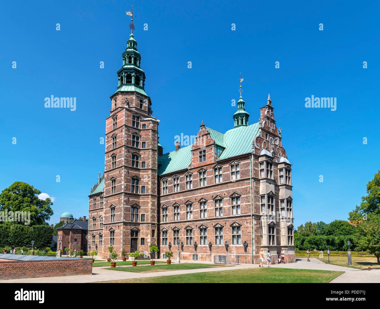 Rosenborg Castle (Rosenborg Slot), Copenhagen, Denmark - Stock Image