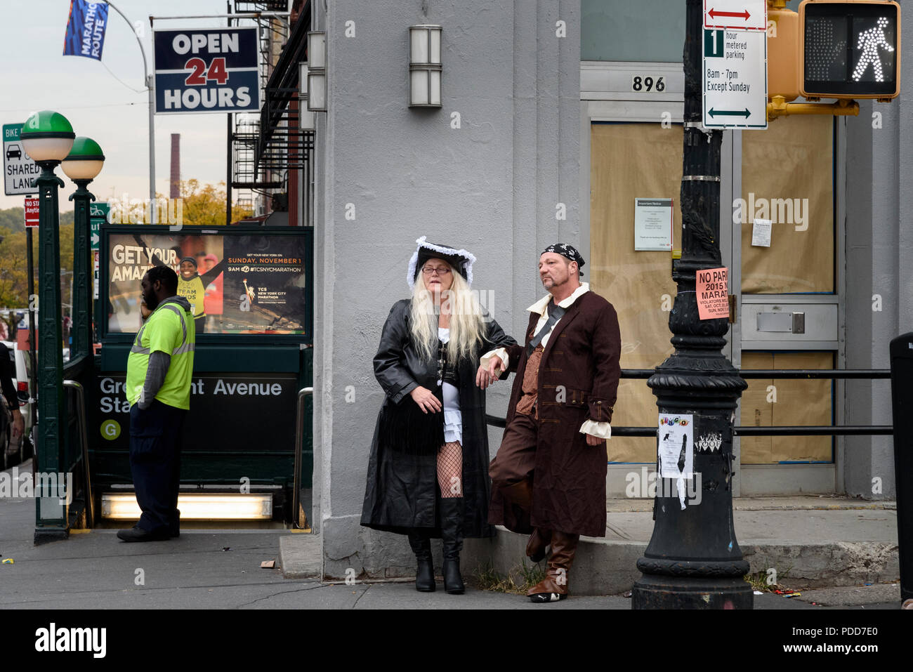 28-10-15, New York, USA.  Brooklyn. Fancy Dress for Halloween. Photo: © Simon Grosset - Stock Image