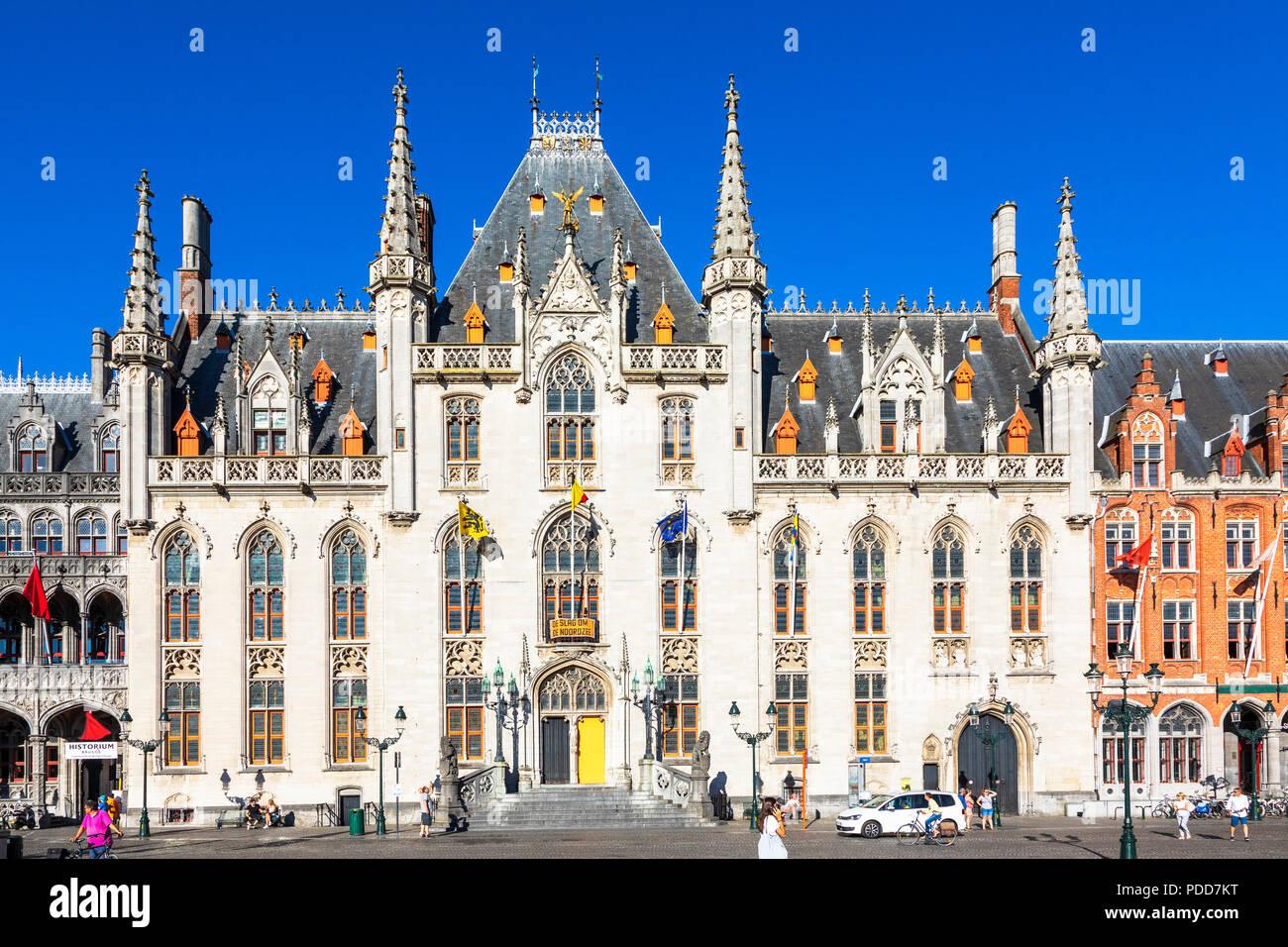 Provincial Court House, Place de Bruges, Bruges, Belgium - Stock Image