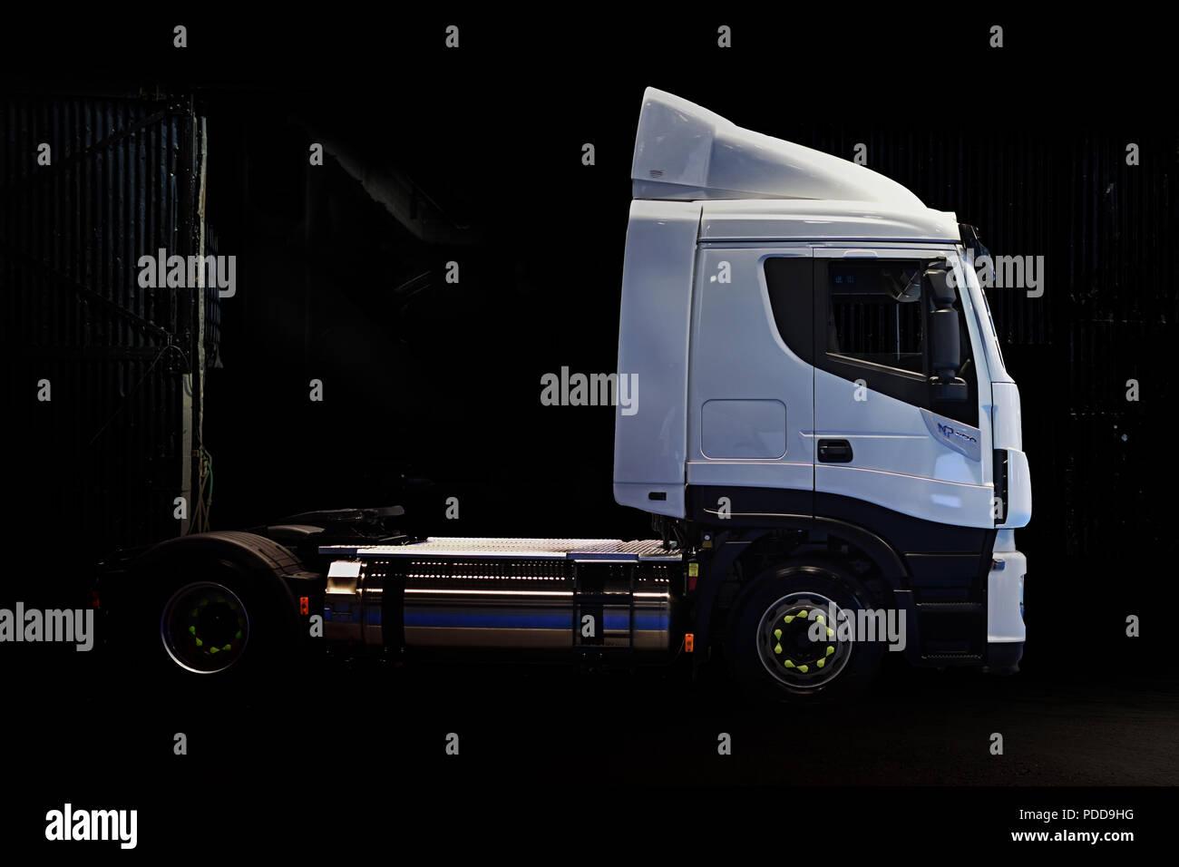 BIo-diesel powered Iveco Stralis Stock Photo