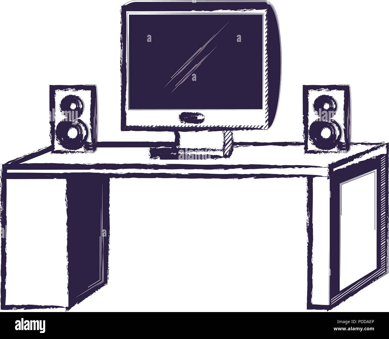speakers desk stock vector images alamy