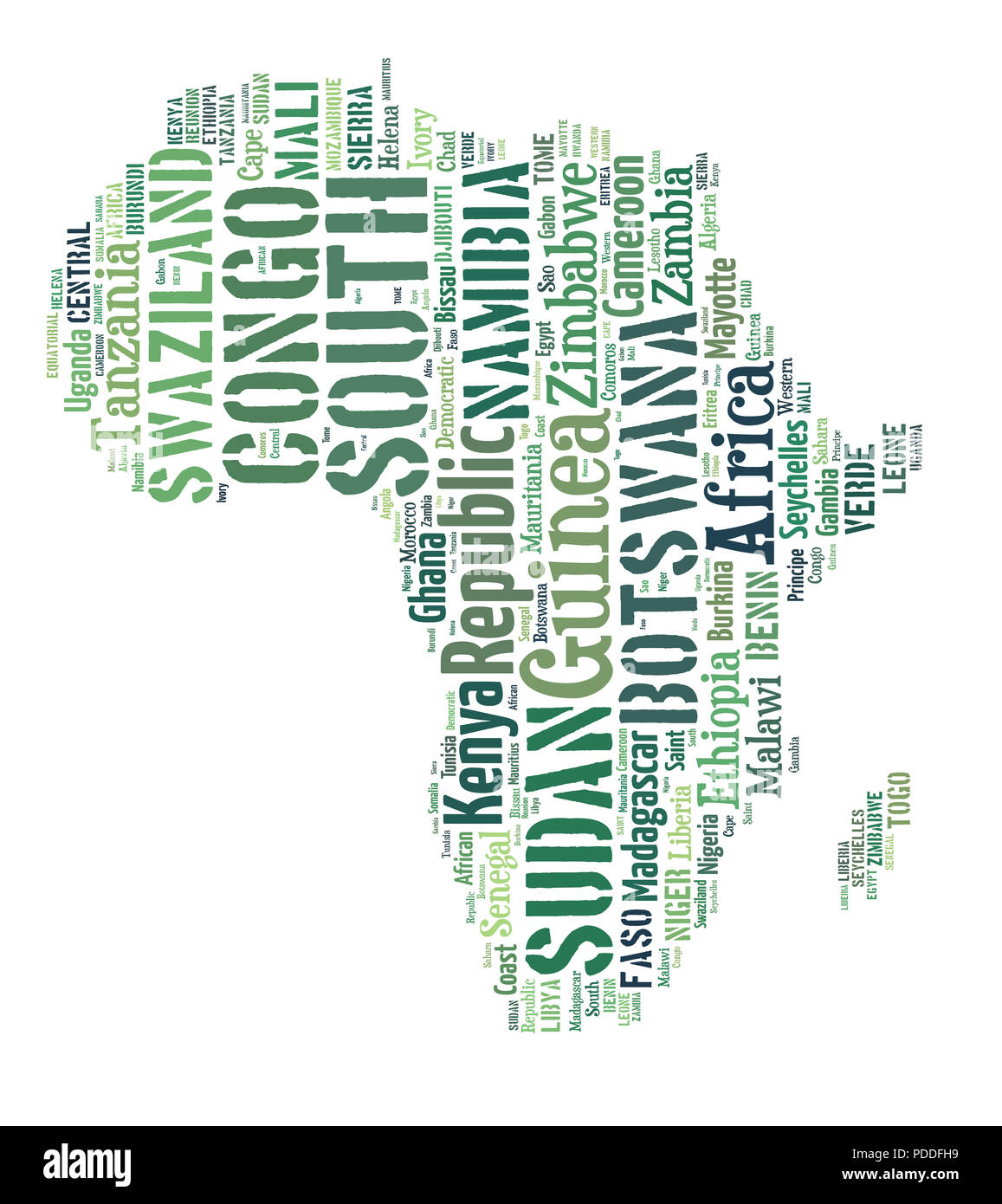 Sketch Africa Continent From Tetx Country Names African Words Cloud