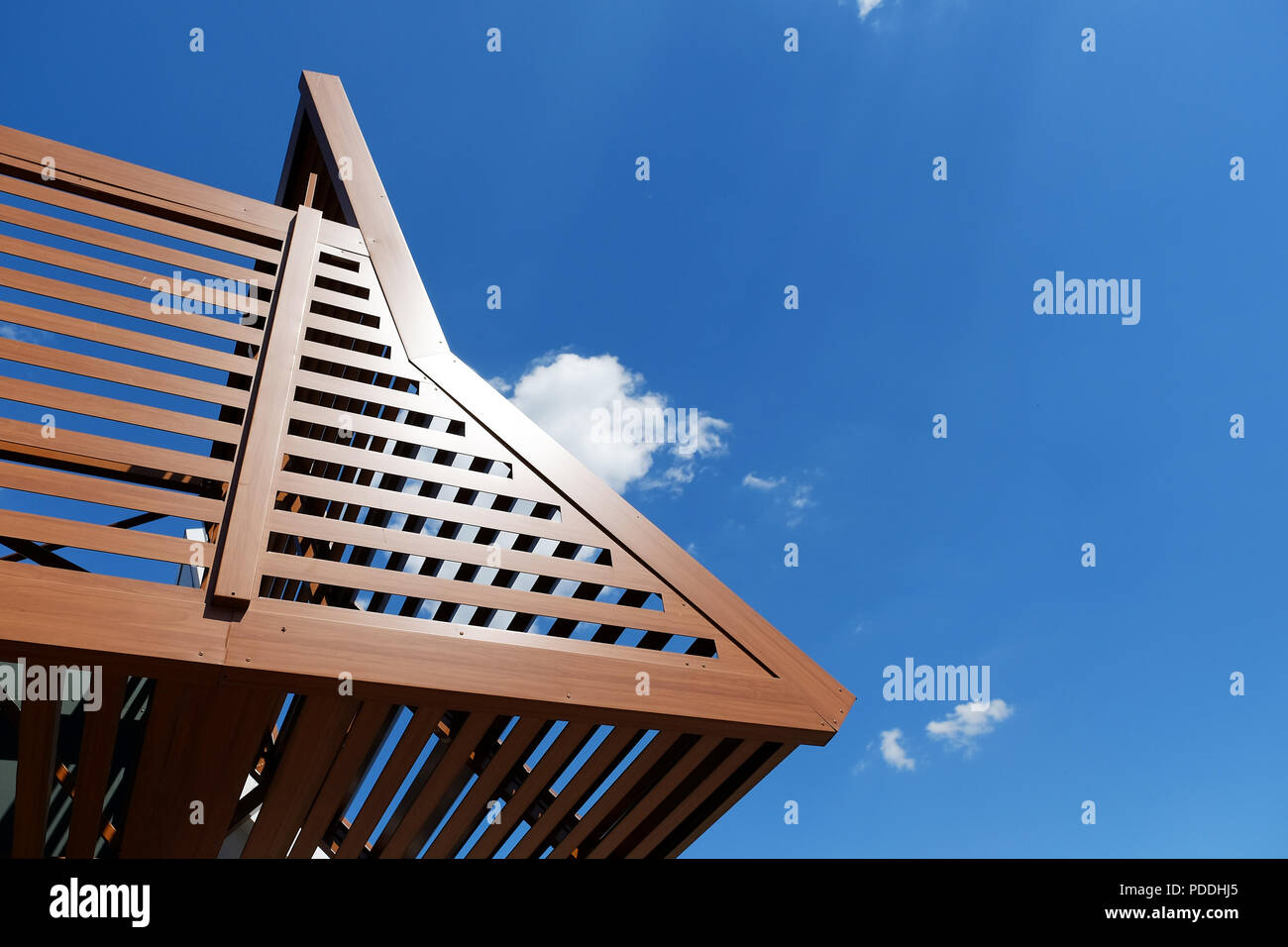 Residential patio or terrace awning in cafee - Stock Image