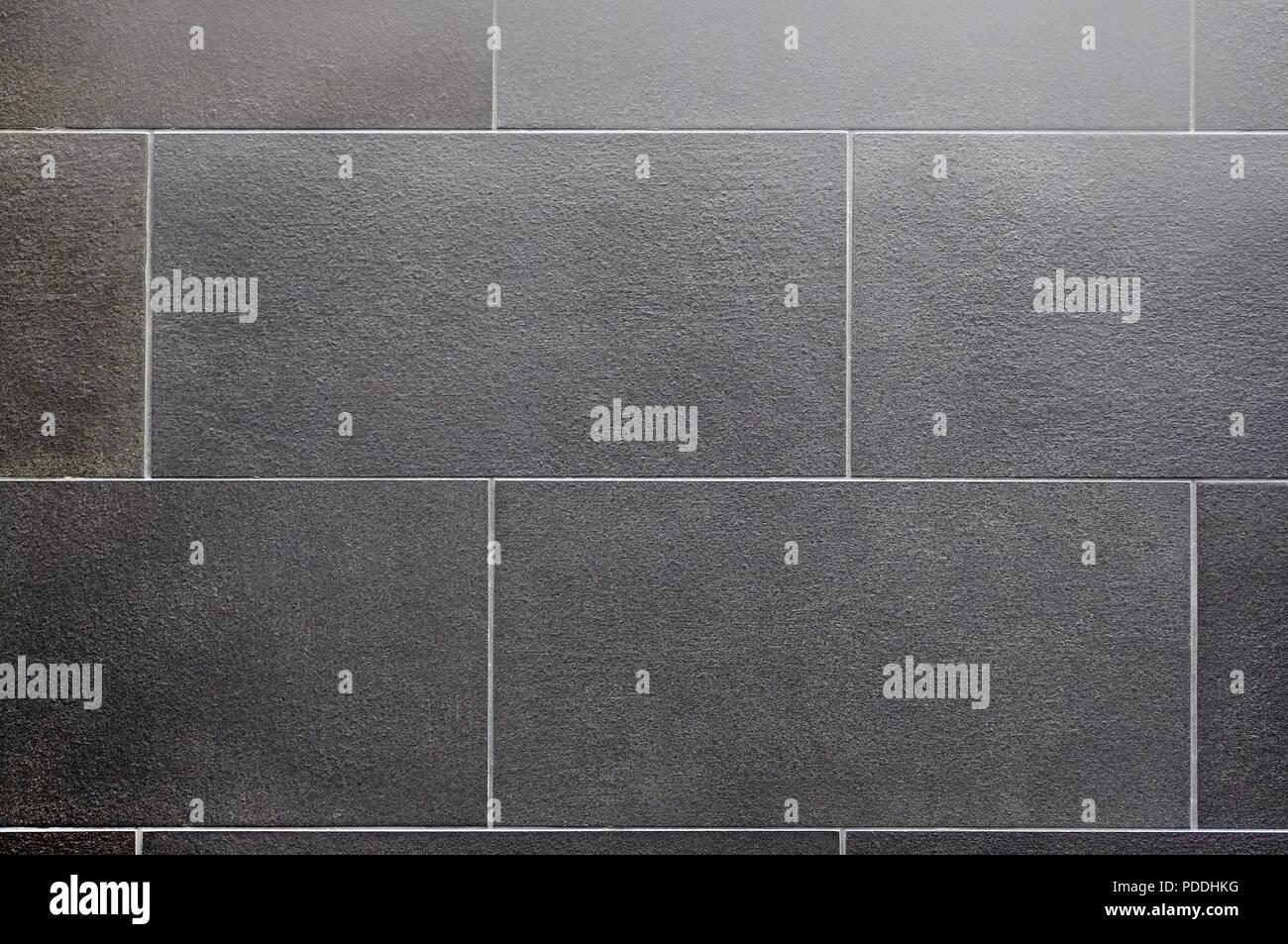 Ceramic Tile Seamless Texture Square Dark Gray Stock Photo