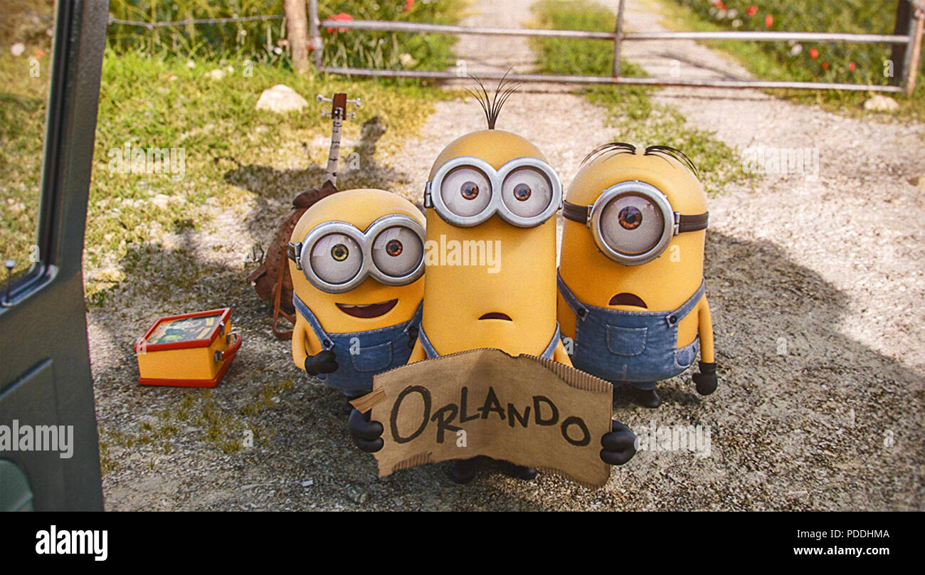 MINIONS 2015 Universal Pictures film - Stock Image