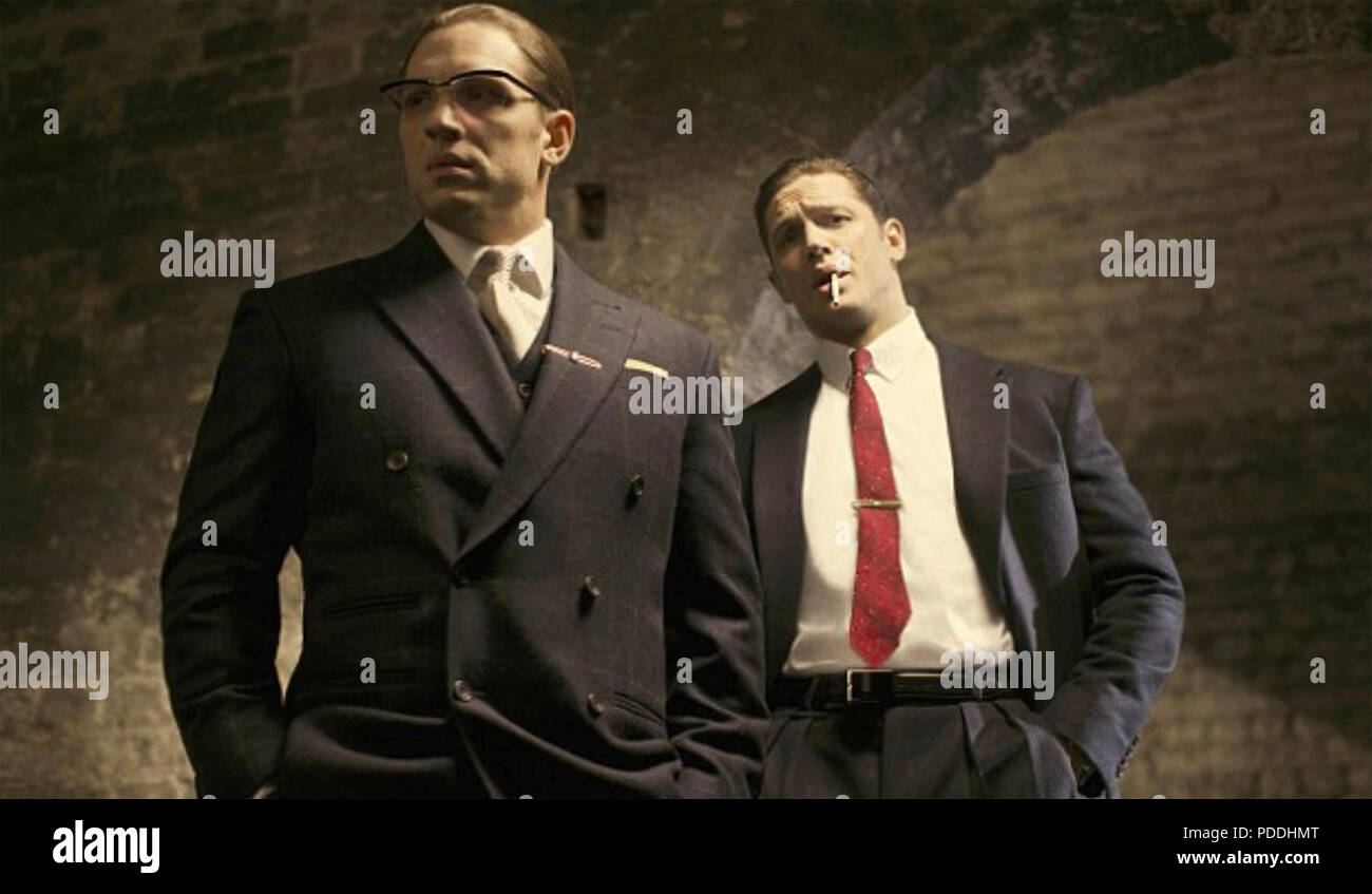 THE FALL OF THE KRAYS 2016 Saracen Films production with Tom Hardy - Stock Image