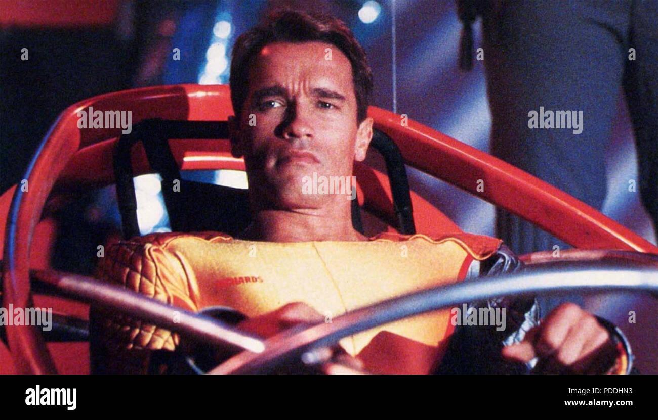 THE RUNNING MAN 1987 Braveworld productions film with Arnold Schwarzenegger - Stock Image