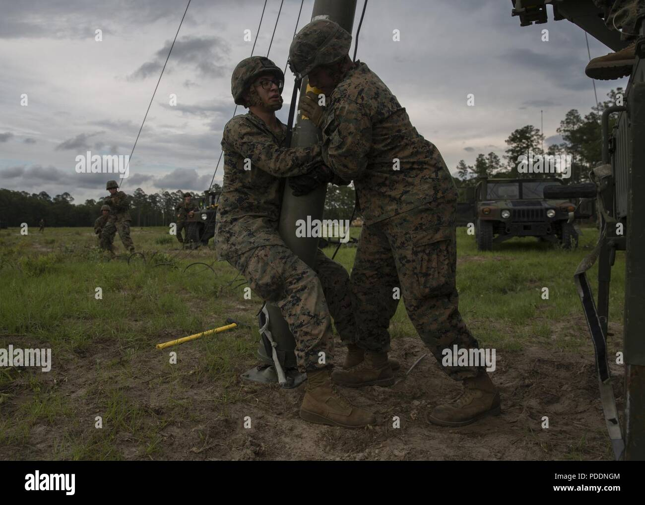 Tactical Elevated Antenna Mast System Stock Photos & Tactical