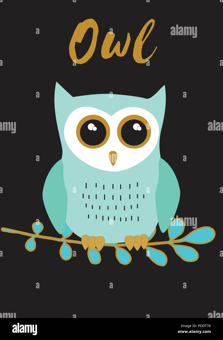 Owl green with black,white and gold metallic colors palette ...