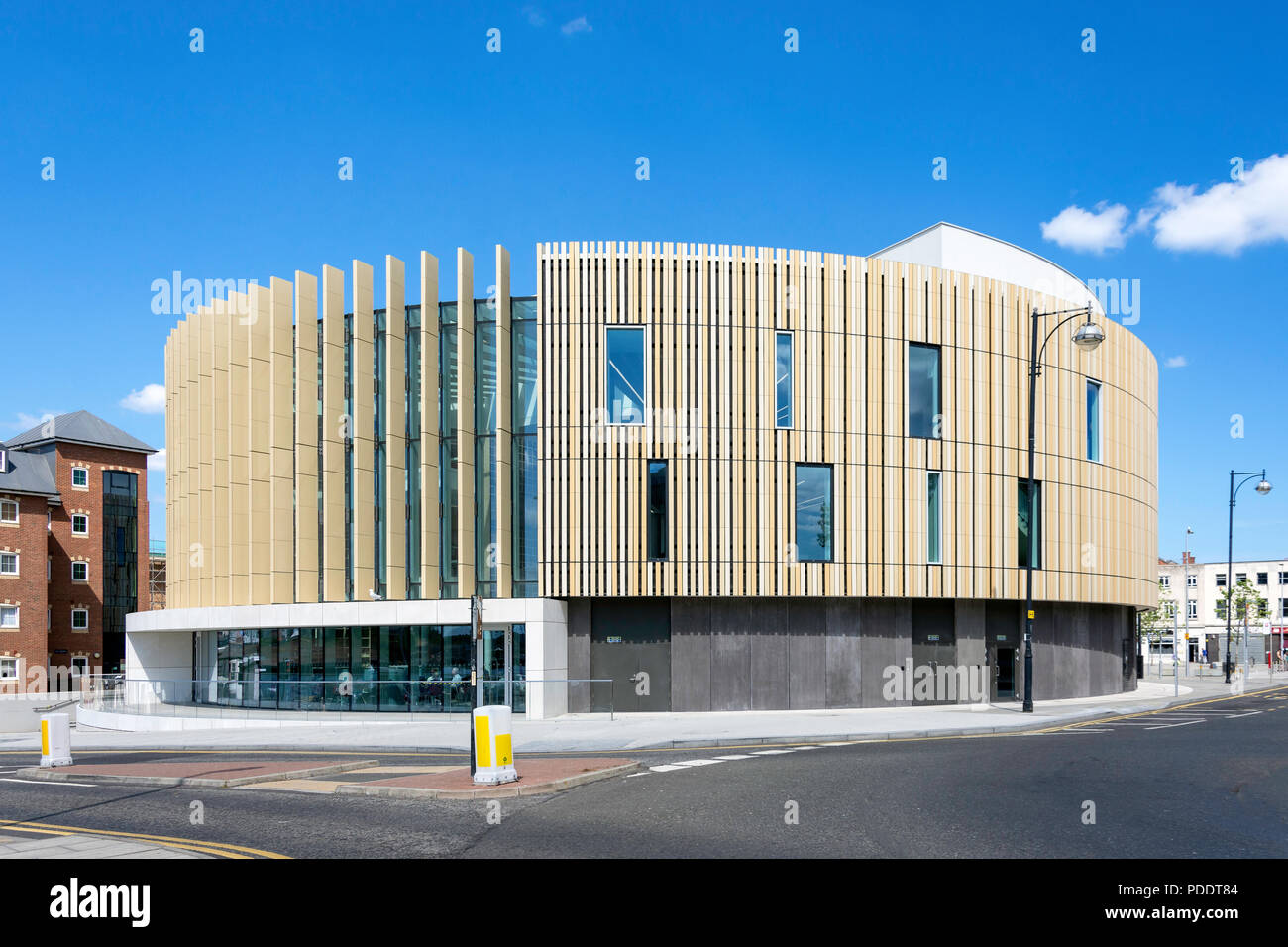 The Word, National Centre for the Written Word, Market Place, South Shields, Tyne and Wear, England, United Kingdom - Stock Image