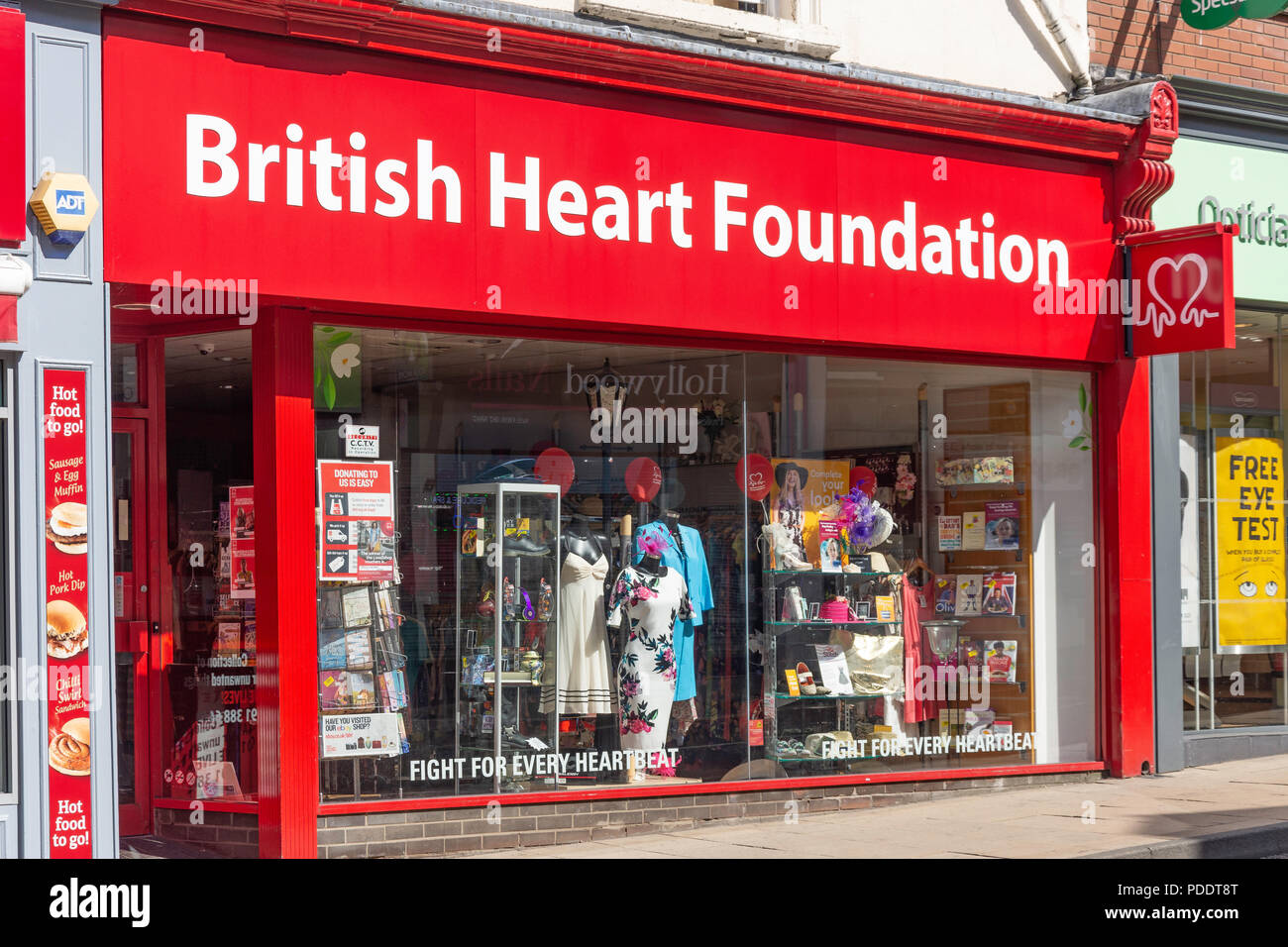 British Heart Foundation charity shop, Front Street, Chester-le-Street, County Durham, England, United Kingdom - Stock Image