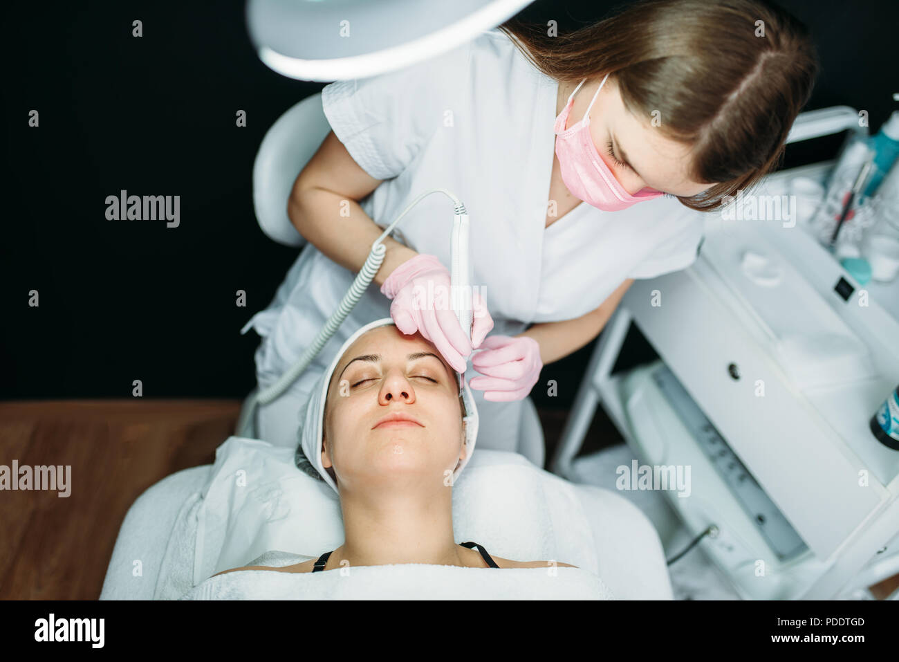Rejuvenation procedure, getting rid of wrinkles - Stock Image