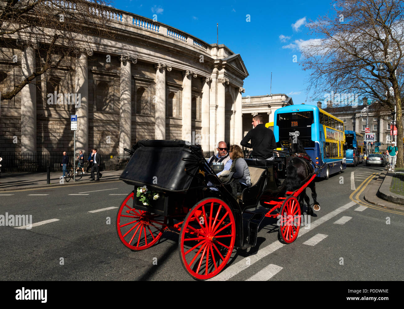 Bank of Ireland & Trinity College, Dublin, Ireland - Stock Image