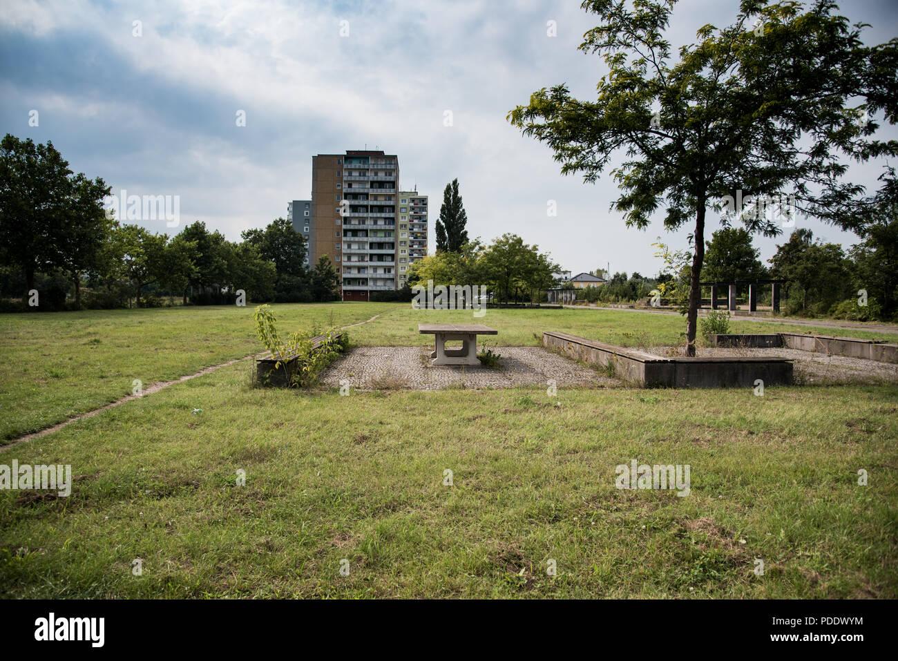 Eisenhüttenstadt, eine Stadt an der Grenze zu Polen - Stock Image