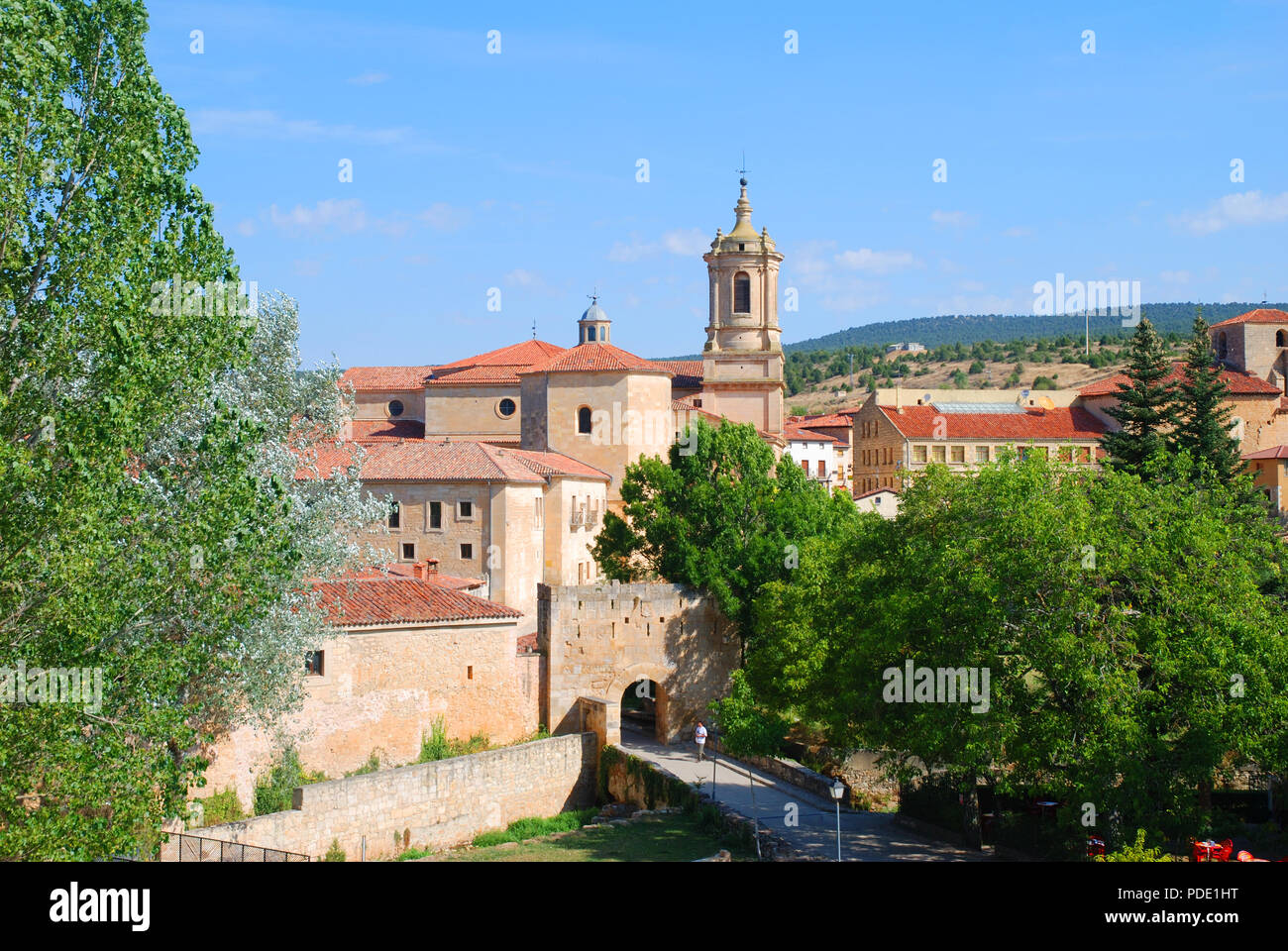 Monastery. Santo Domingo de Silos, Burgos province, Castilla Leon, Spain. - Stock Image