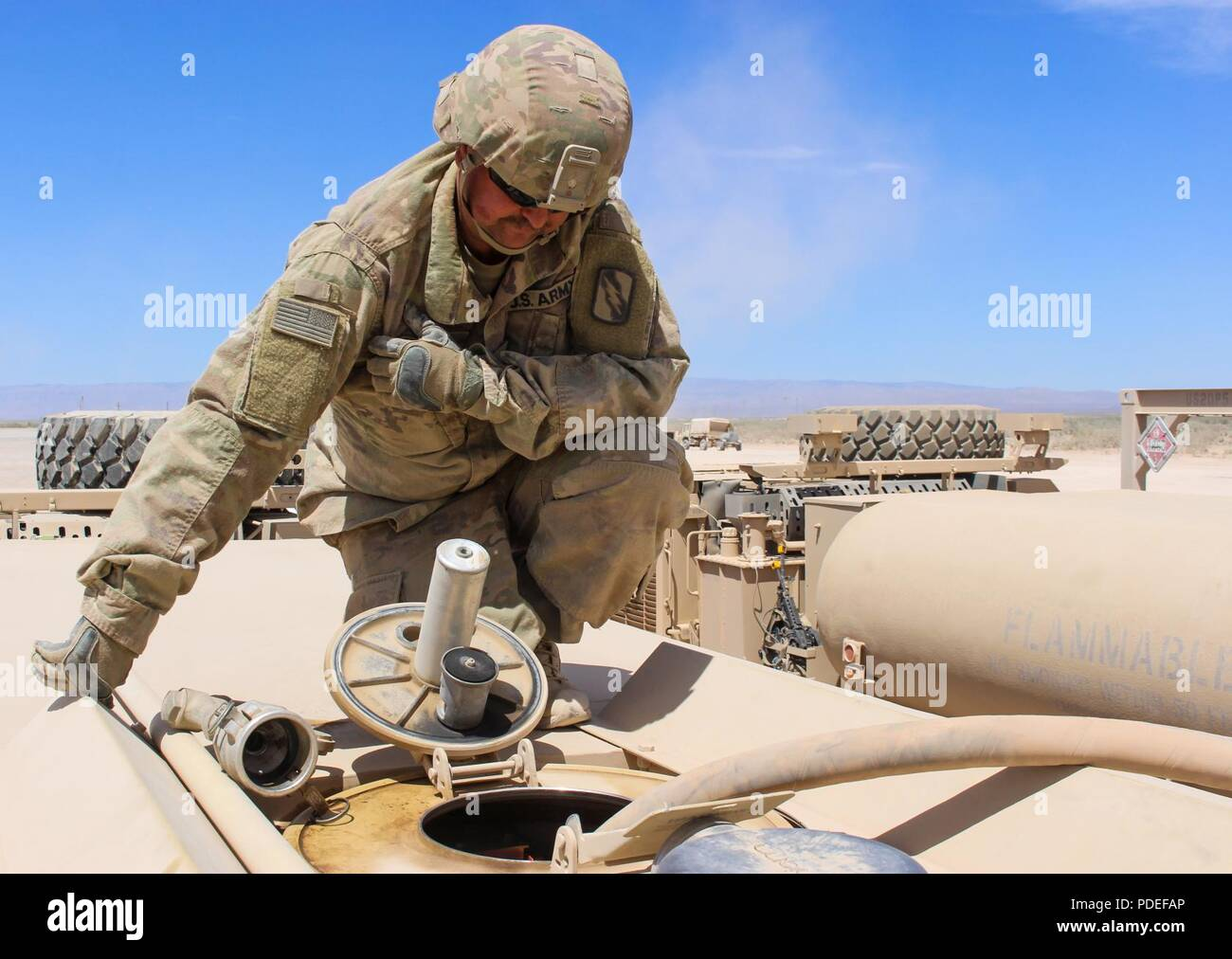 Sgt  Chad Willcutt, a petroleum supply specialist, with Company G