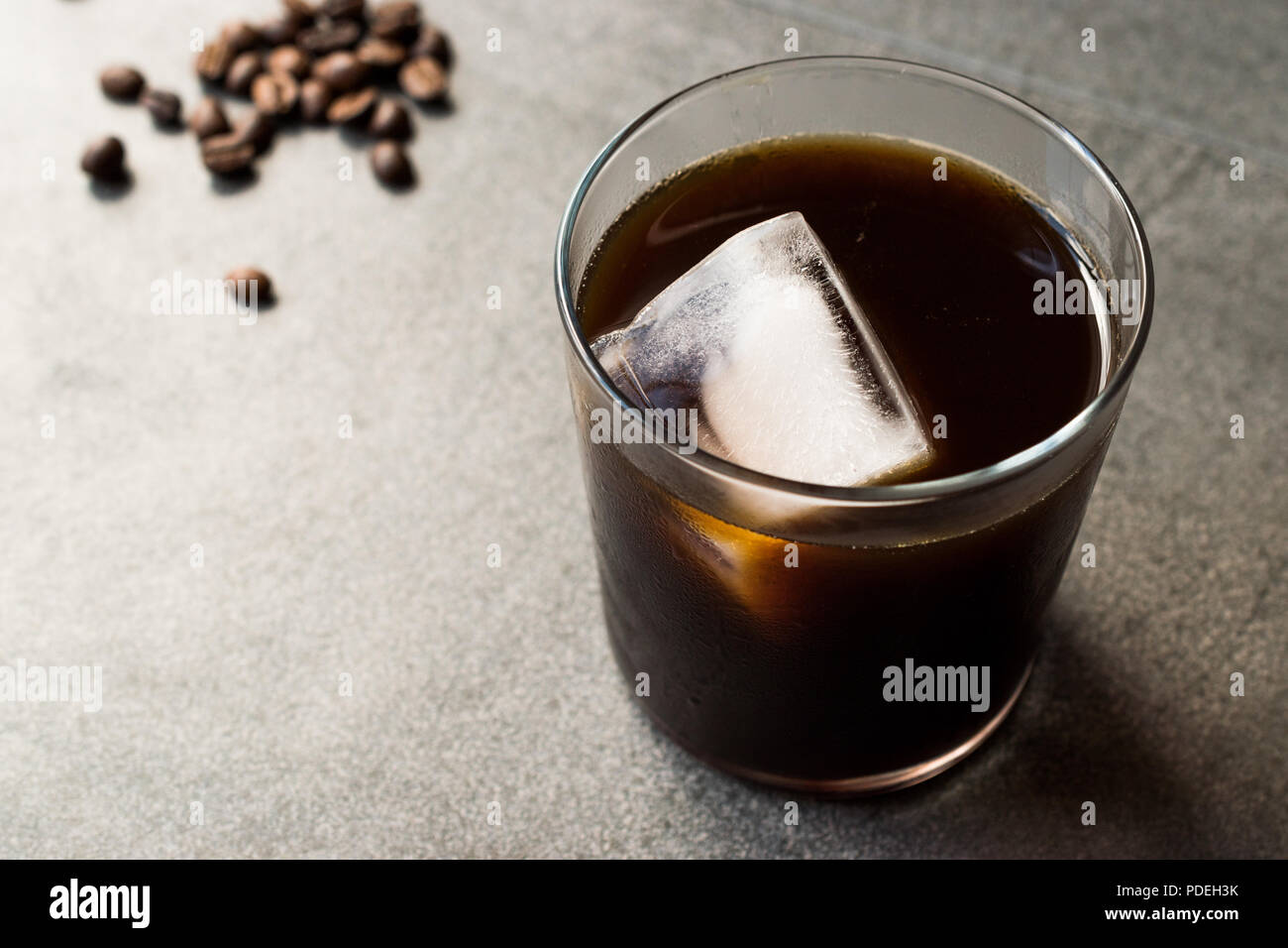 Cold Brew Coffee with Ice. Organic Summer Beverage. - Stock Image