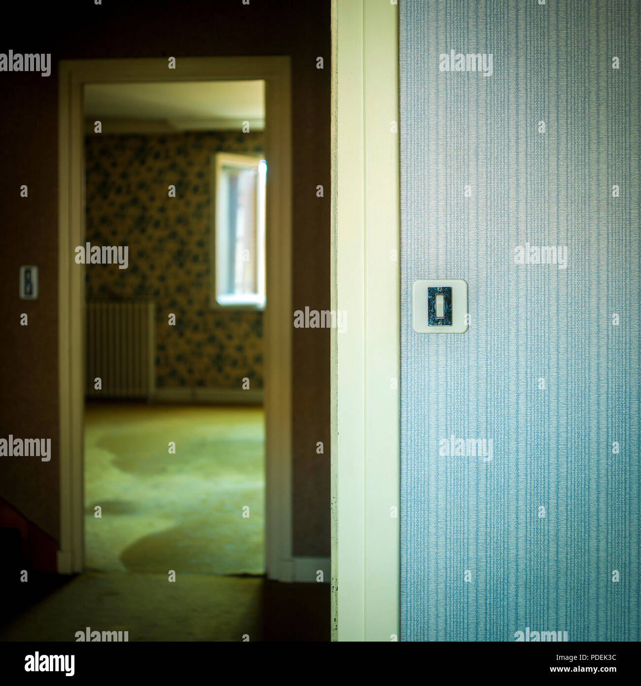 Switch In Old House Stock Photos How To Repair A Doorknob Oldhouse Online Doorway Image