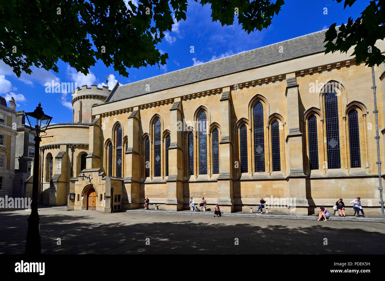 Temple Church, Inner Temple, London, England, UK. 12th century church built by the Knights Templar - Stock Image
