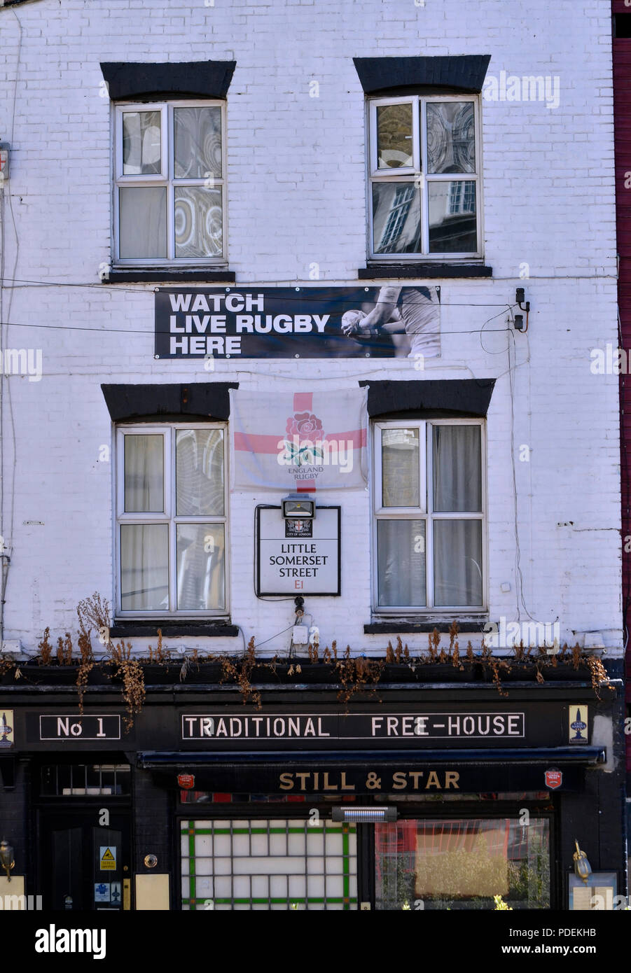 The Still and Star public house in Aldgate, east London - Stock Image