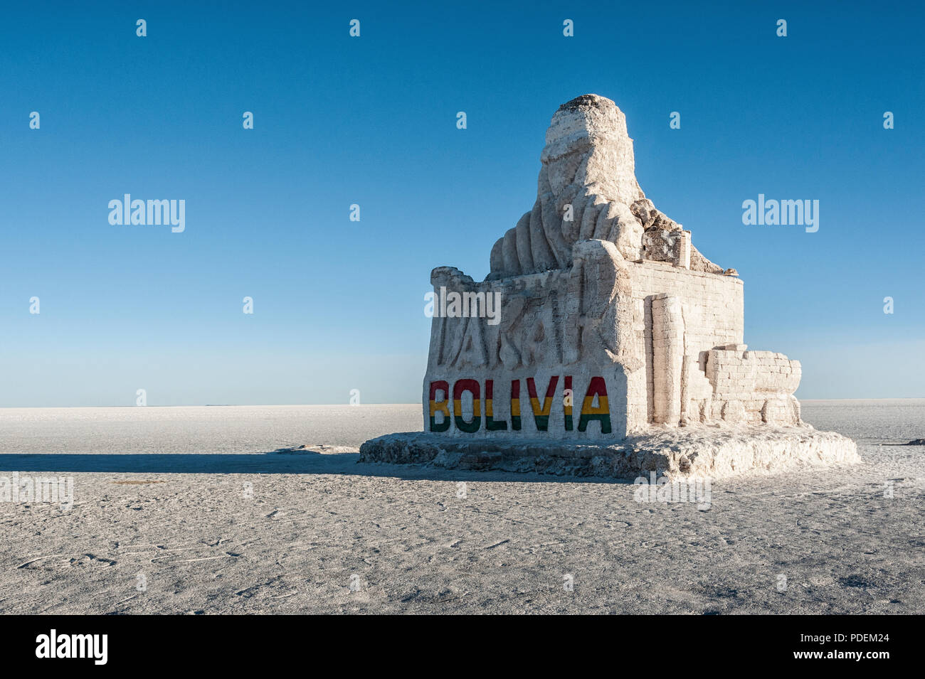 The Dakar Bolivia Monument in Salar de Uyuni, near Colchani - Bolivia - Stock Image