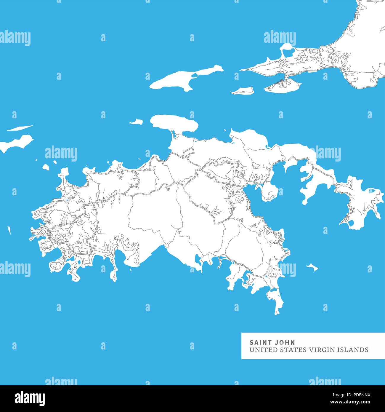 Map of Saint John Island, United States Virgin Islands, contains ...
