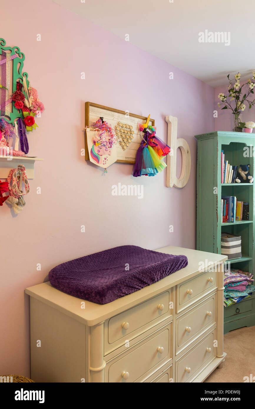 Home Interior Baby Girlu0027s Room, USA