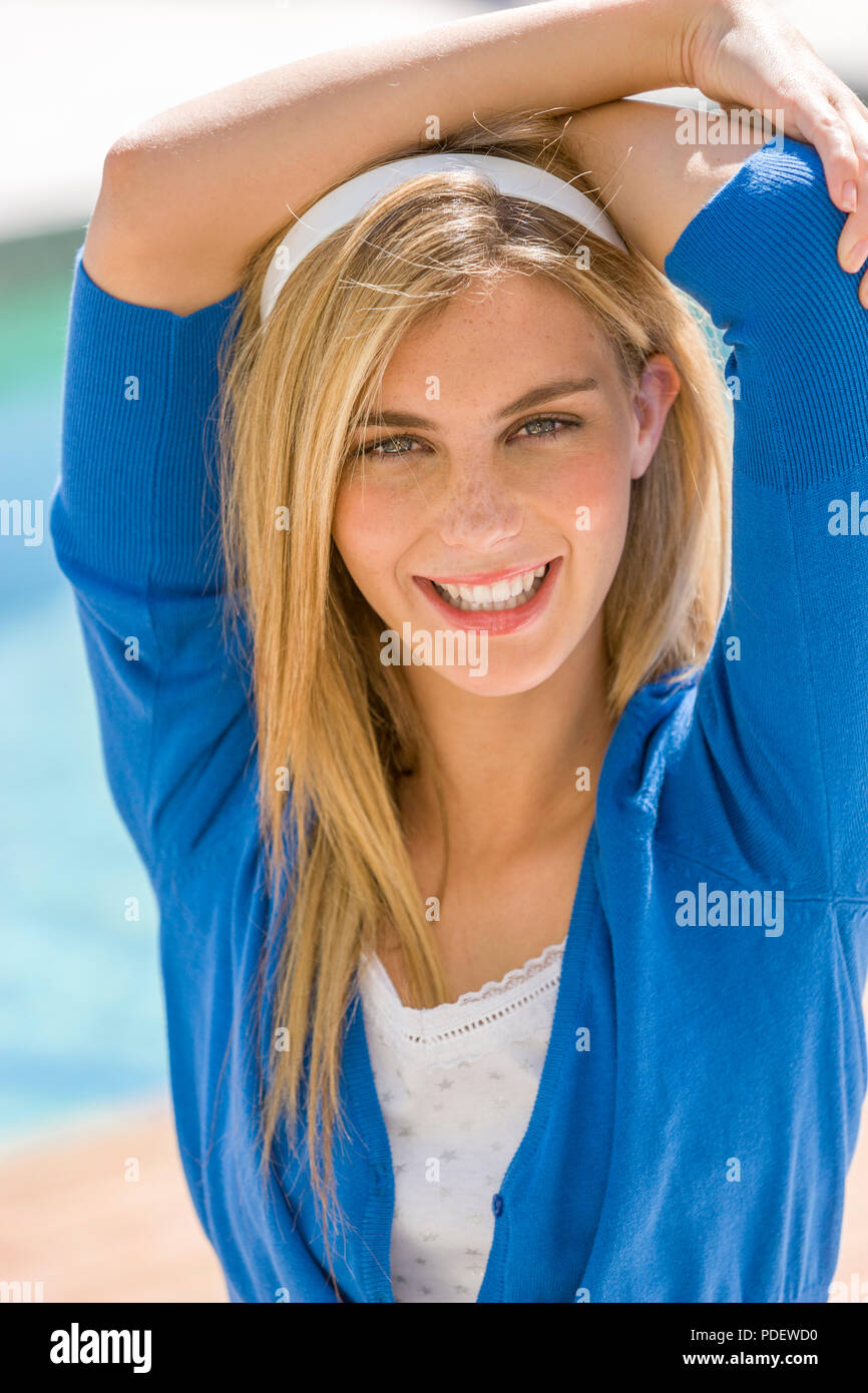 Portrait of young blond woman Stock Photo