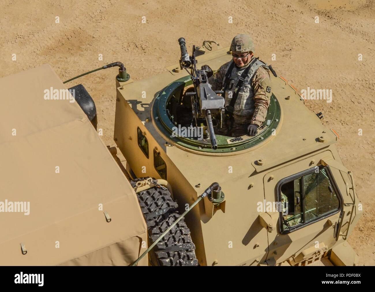 A U S  Army Reserve Troop List Unit Soldier maintains muzzle