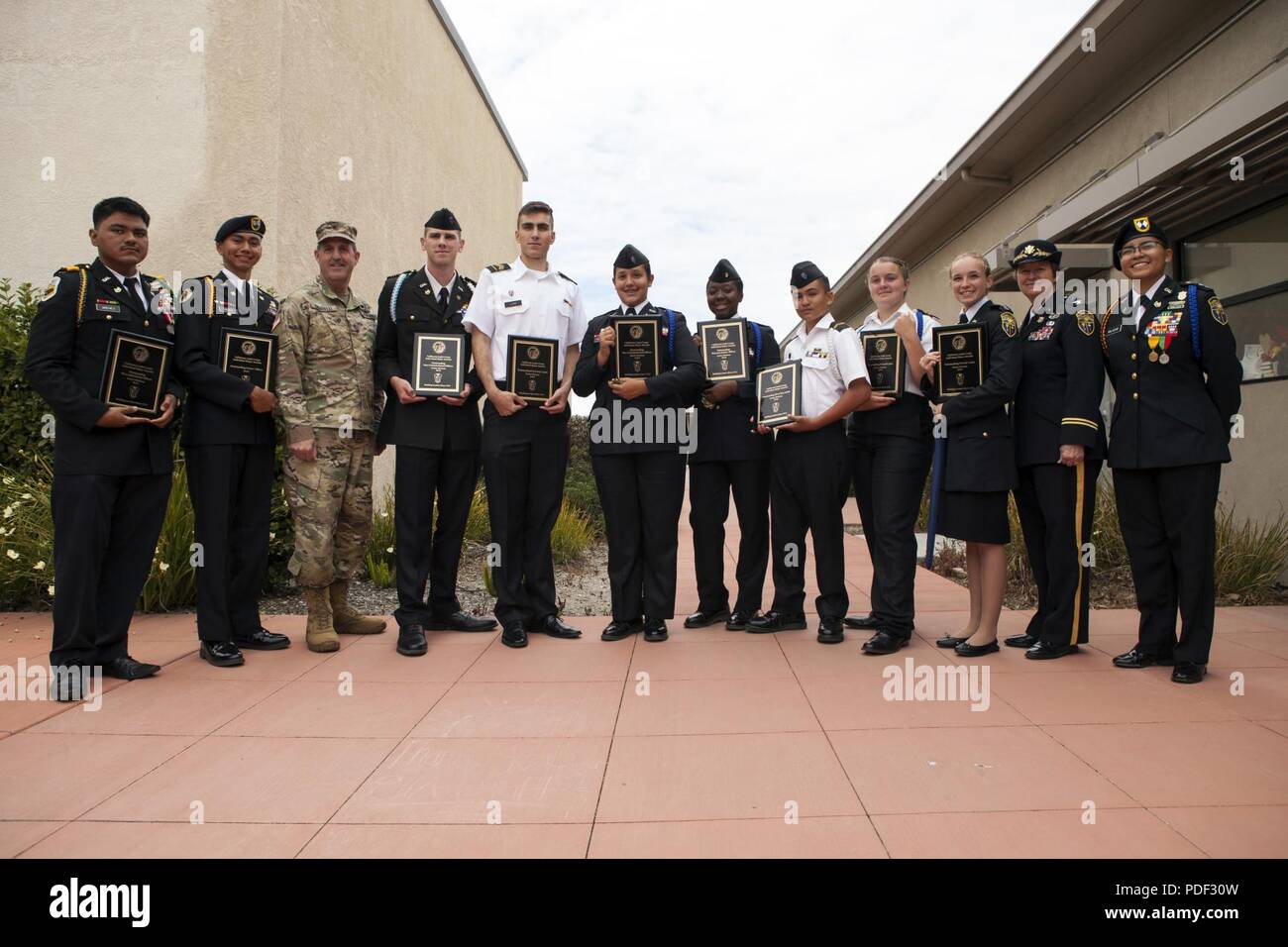 Thesis Statement Essay Example California Cadet Corps Individual Major Awards Statewide Winners Present  Their St Place Plaques May  Thesis Examples For Argumentative Essays also Persuasive Essay Examples For High School Ycptf Stock Photos  Ycptf Stock Images  Alamy Essay About Healthy Diet
