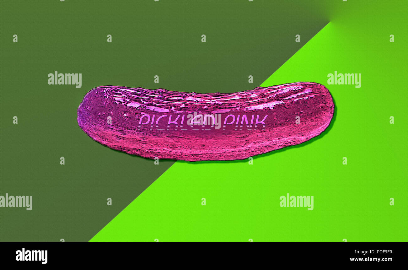 A conceptual piece 'Pickled Pink' is a fun play on words. - Stock Image