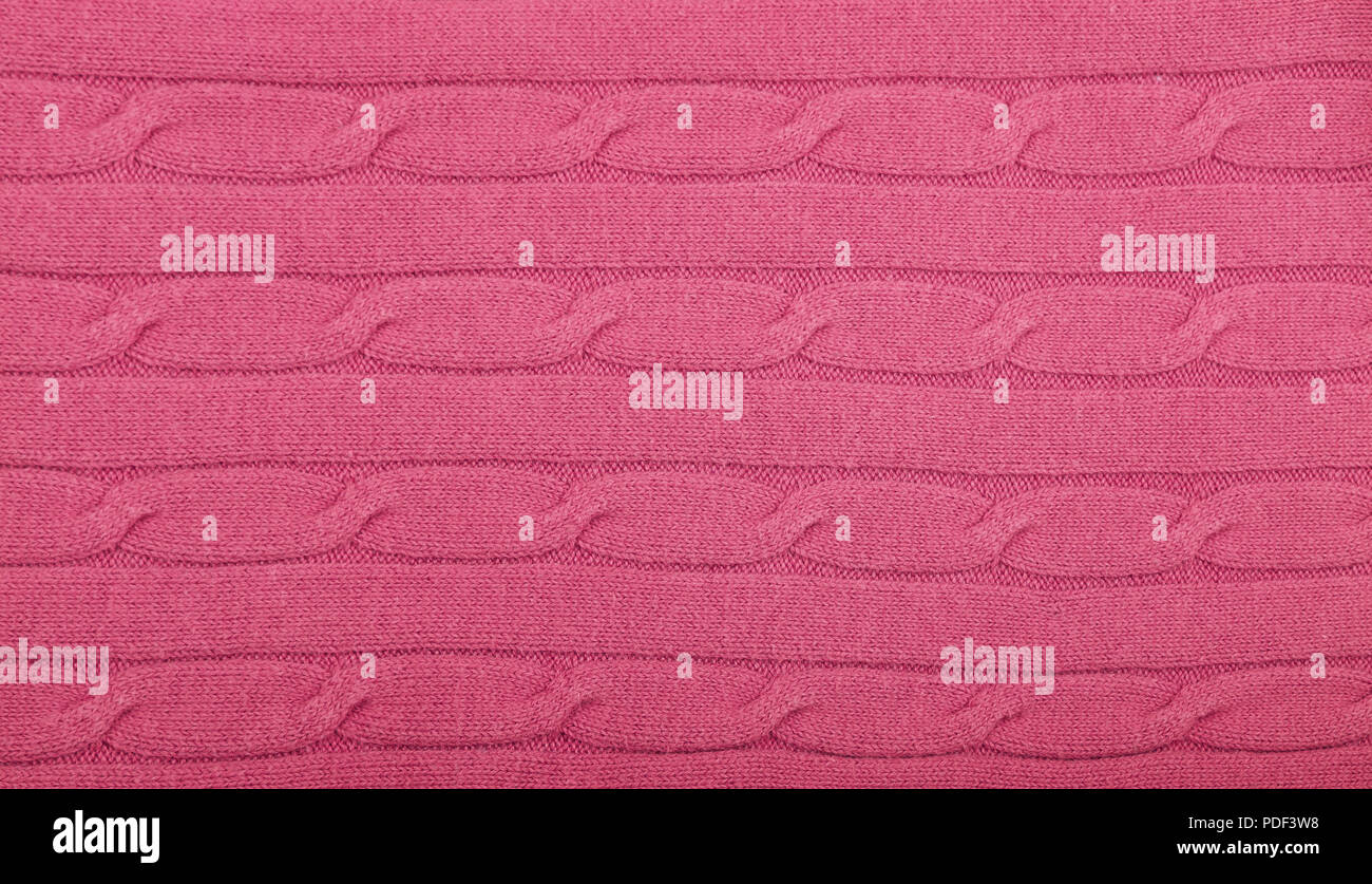 cf9129888dd Close up background of pink knitted wool jersey fabric texture Stock ...